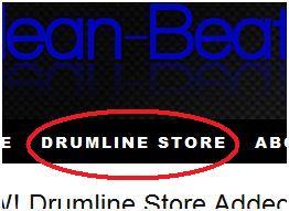 Drumline Store Tab