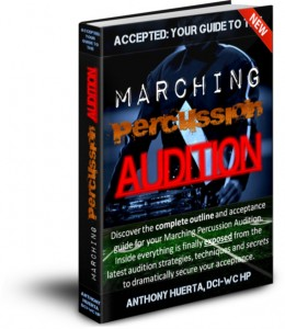 DRUM CORPS AUDITONS - BOOK