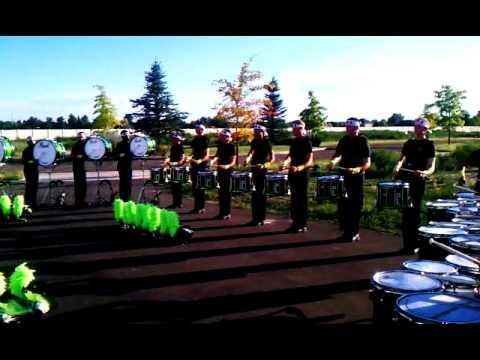 2012 Cascades Drum Corps Drumline.