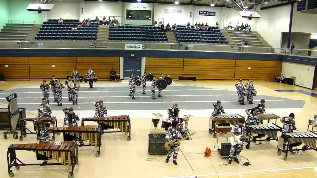 2/25/2012 Indoor Drumline Competition, Bryan High School (Anderson High School Drumline)