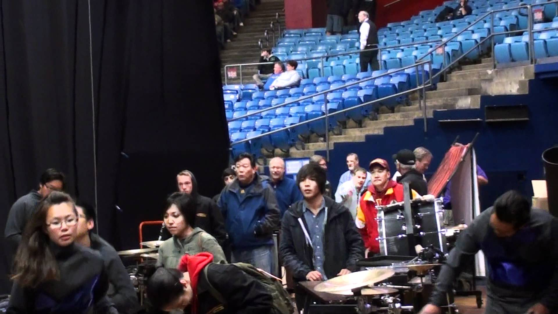 Arcadia Percussion Drumline 2012 – WGI Dayton Pre/Post Tunnel