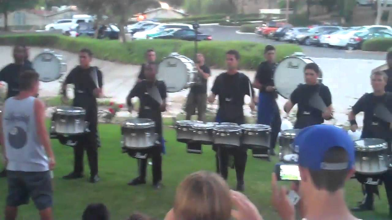 Blue Devils 2012 Drumline – drum feature in the lot Riverside, CA #2