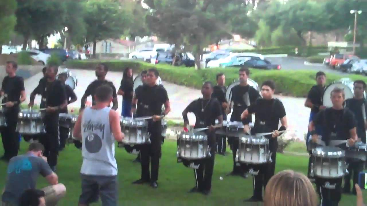Blue Devils 2012 Drumline – drum feature in the lot Riverside, CA #3