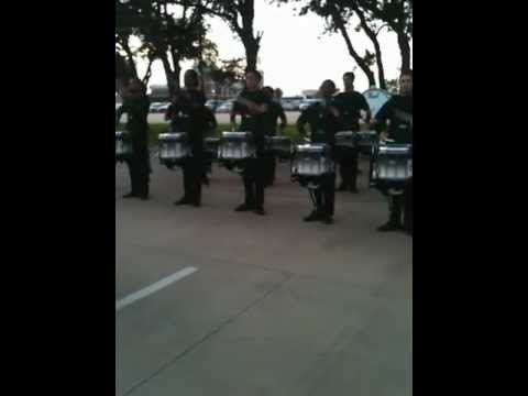 Blue Devils Drumline in the lot 2012 – Drum Feature @ DCI Houston
