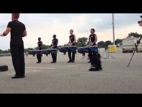 bluecoats drumline 2012 in the lot, louisville