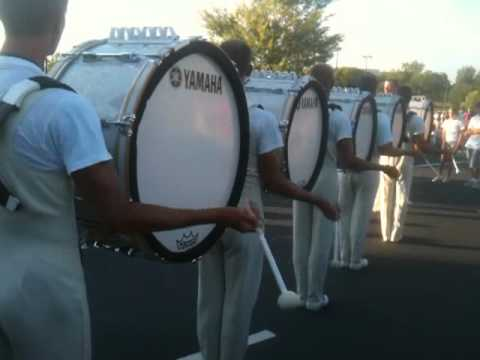 "Cadets Drumline ""In The Lot"" 2012 Atlanta Warming Up"