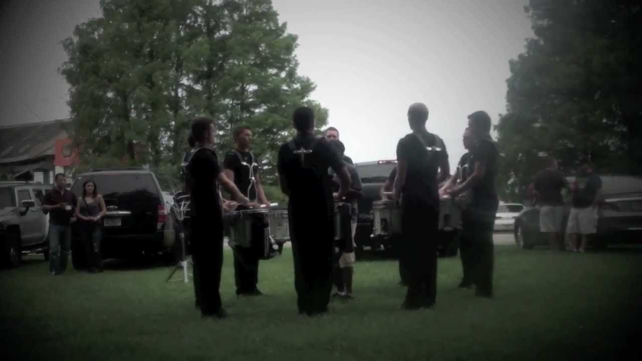 Cavaliers 2012 Drumline At DCI Orlando (Warm-up/Sub-sectionals)