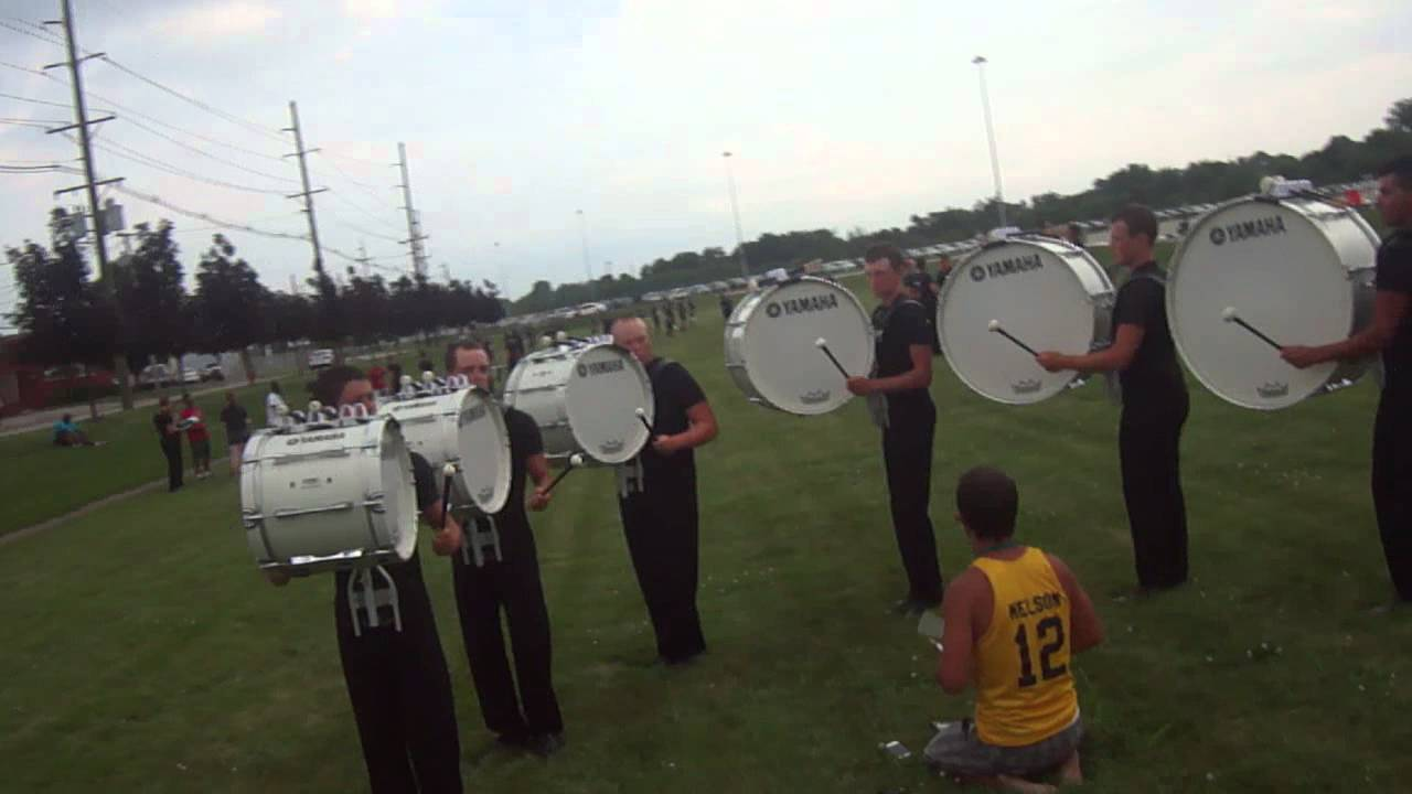 Cavaliers Drumline 2012 Bass Drums In the Lot Triplet Diddle