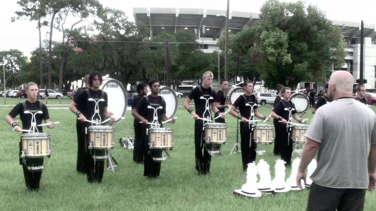 Crossmen 2012 Drumline At DCI Orlando (Accent-Tap)