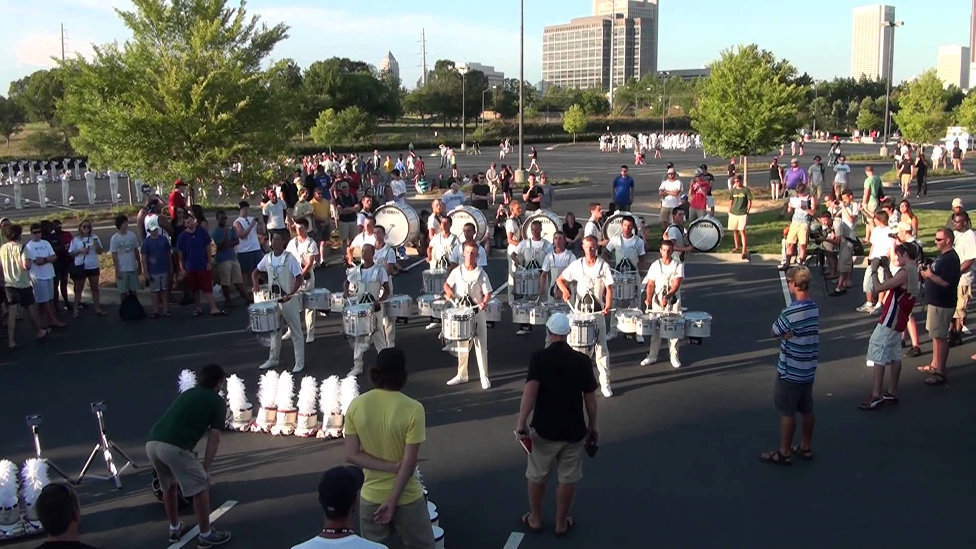 DCI 2012 The Cadets Drumline Warmups (4 of 5)