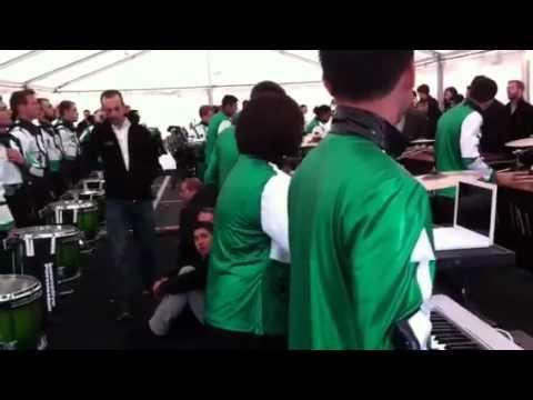 GMU in the tent before WGI Finals 2012 [FULL RUN]