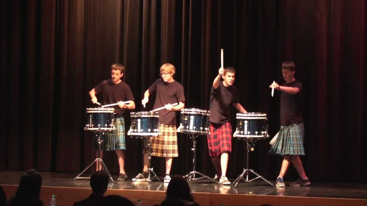 NEW Hot Scots drum line – 2012 – Nigel Fernandez – LHHS Talent Show