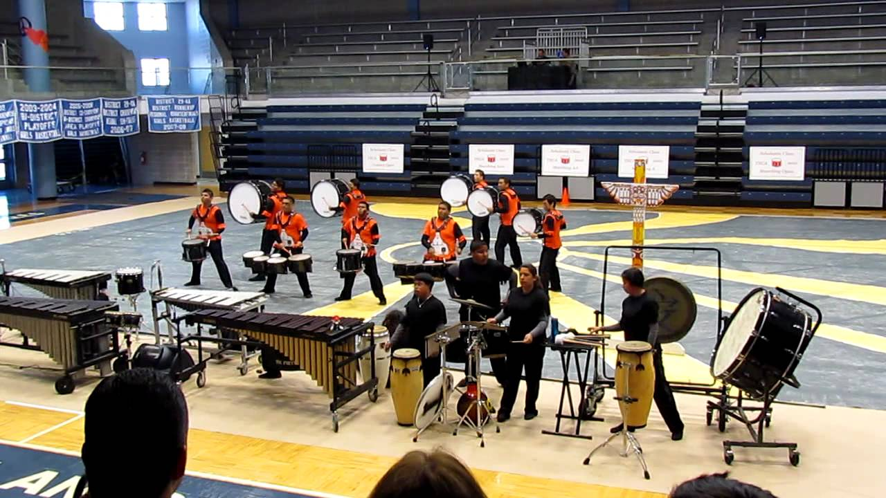 Porter High School Indoor Drumline 2012 TRIBAL!.MOV