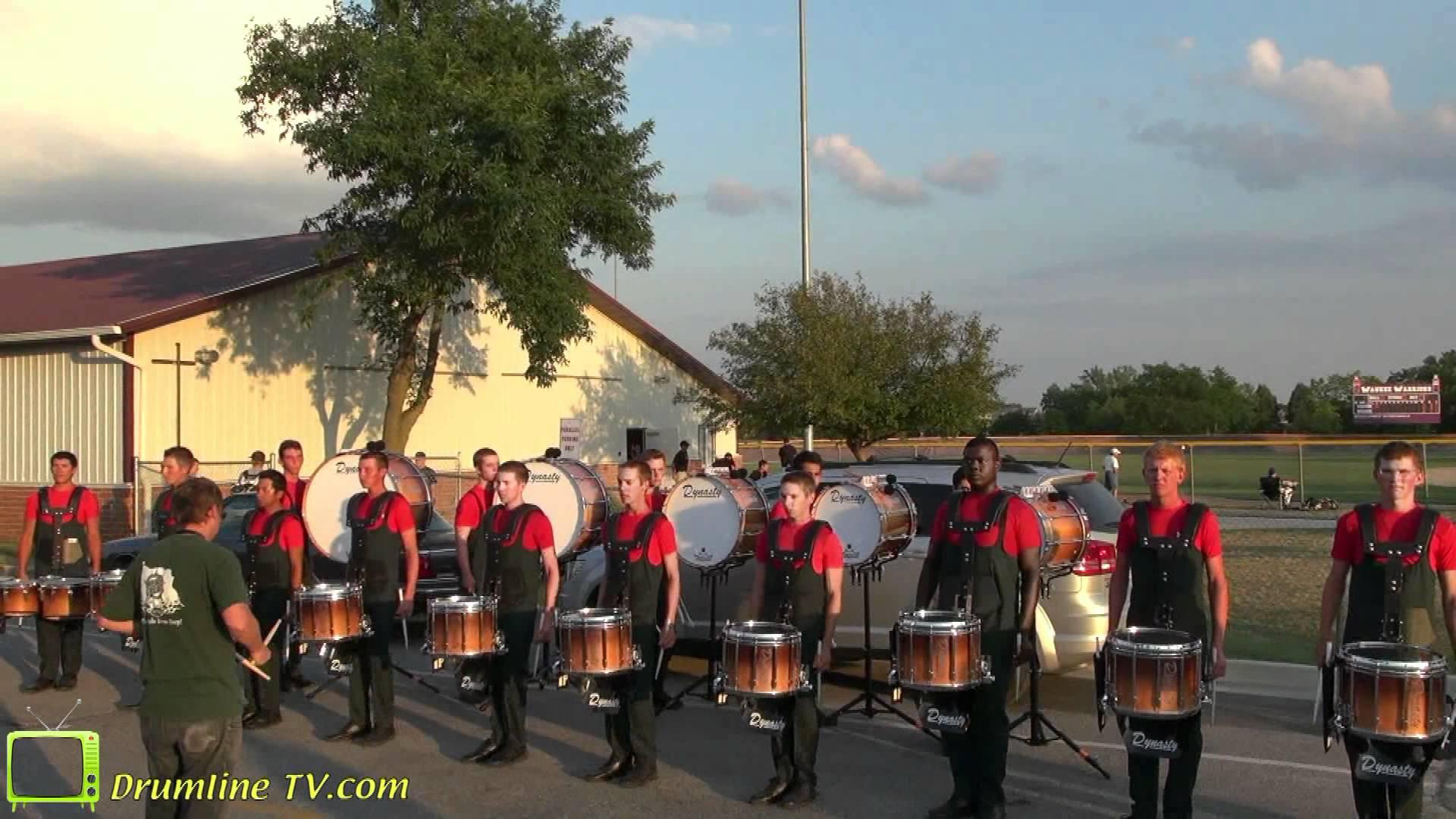 Santa Clara Vanguard 2012 Drumline – Celebration in Brass Show – Waukee, Iowa 7-10-12
