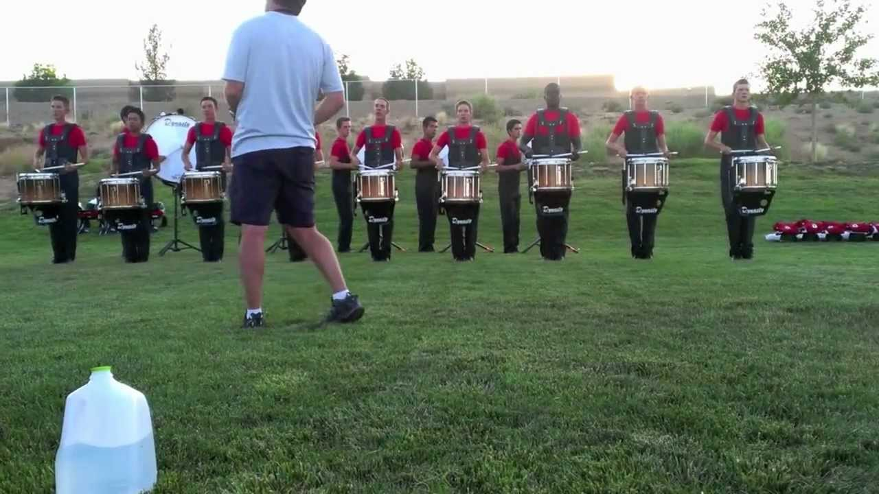 Santa Clara Vanguard drumline 2012 in the lot Los Lunas, NM