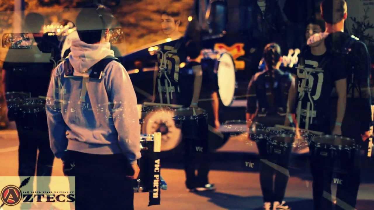 SDSU drumline 2012 in the lot