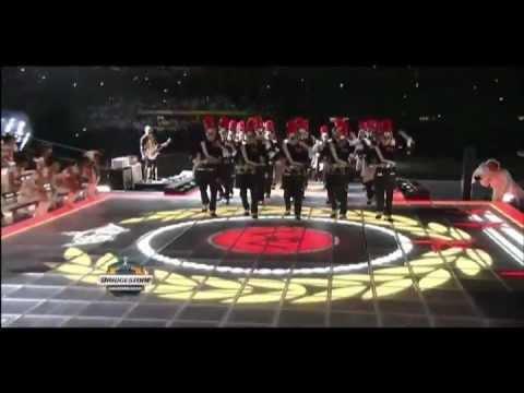 Superbowl 2012 Halftime Show Drumline