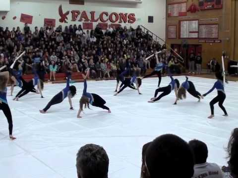 Vanden High School Winter Guard and Percussion line POP 2012