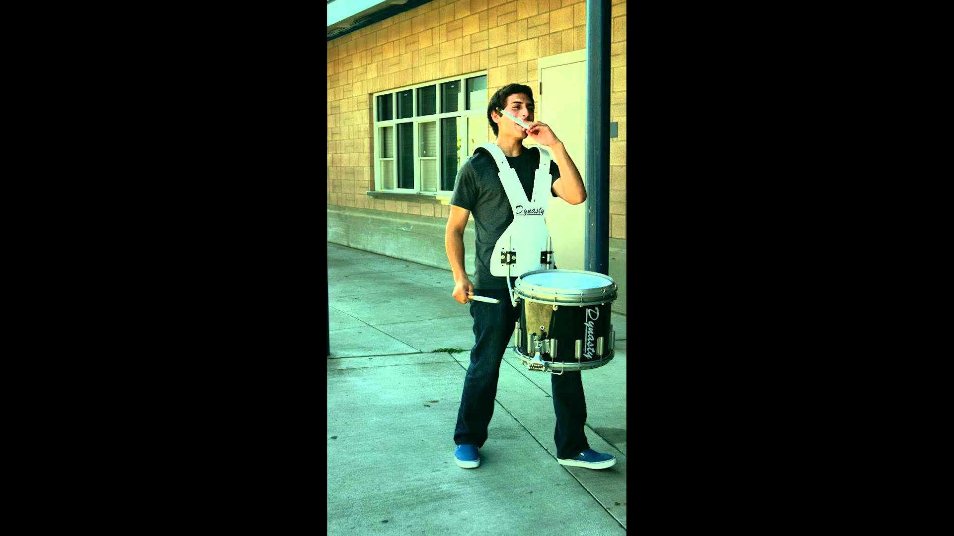 WGI Instrumental Percussion drumline captain drummer / drumming music