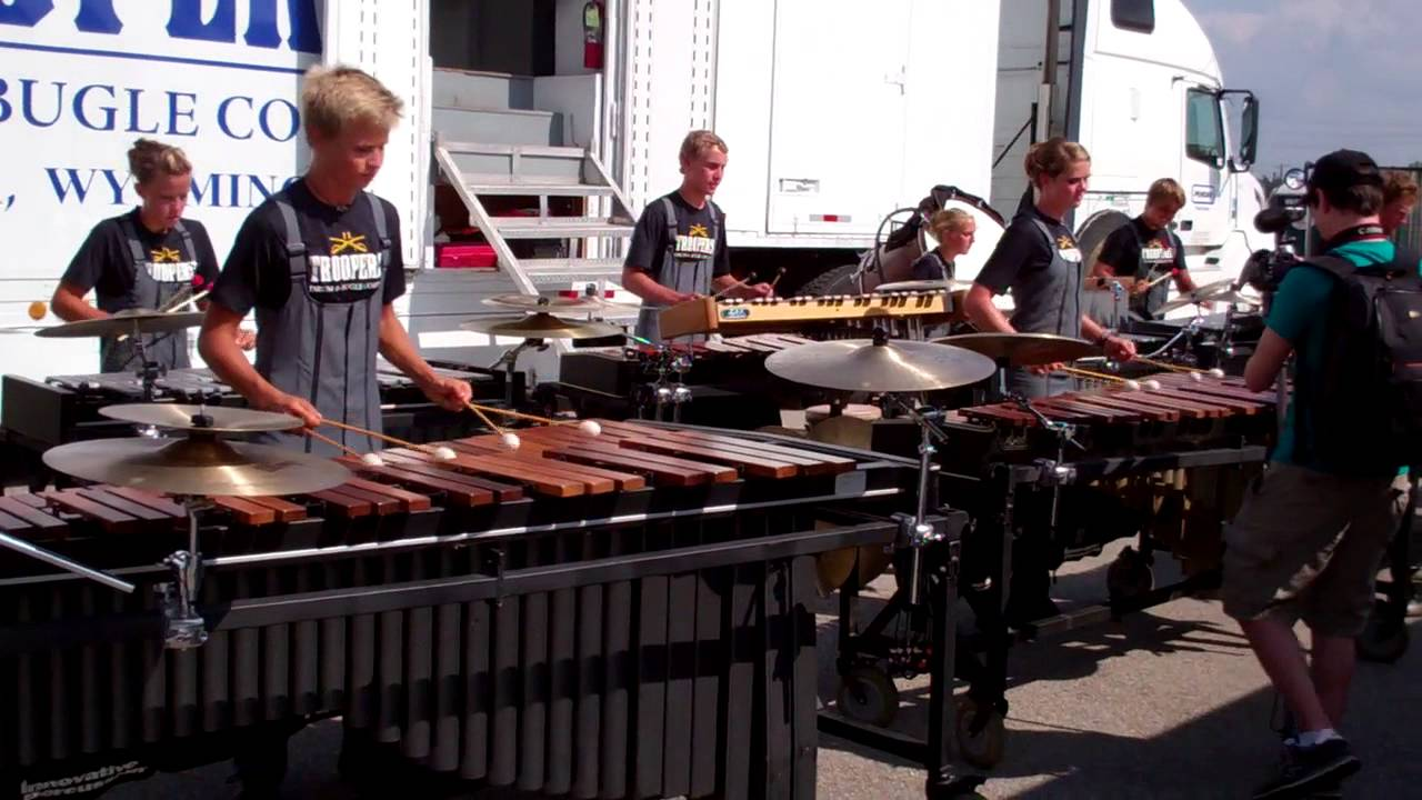 DCI 2013 World Championship Semi-Finals – Troopers Front Ensemble in the Lot