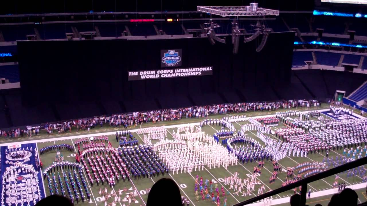 "DCI 2012 World Championship Finals Retreat All Corps Playing ""Simple Gifts"""