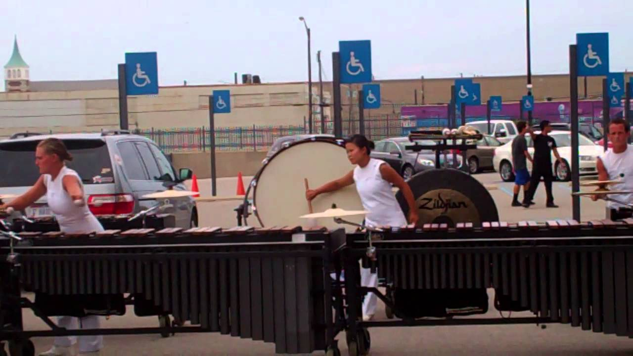 DCI 2013 World Championship Semi-Finals – Phantom Regiment Front Ensemble in the Lot – Show Music 8
