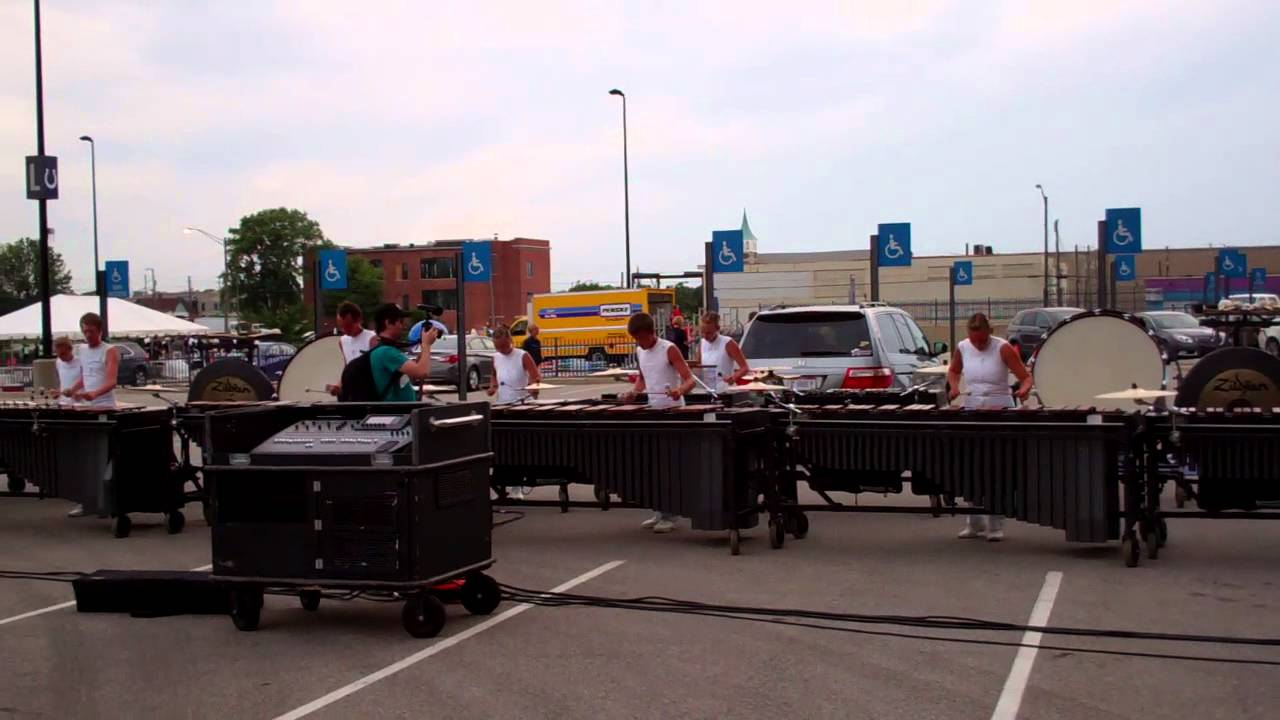 DCI 2013 World Championship Semi-Finals – Phantom Regiment Front Ensemble in the Lot – The Call