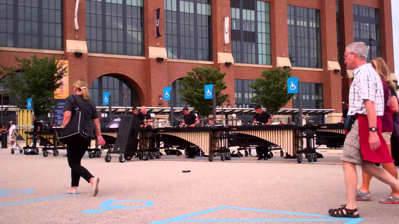 DCI 2013 World Championship Semi-Finals – The Cavaliers Front Ensemble in the Lot – Show Music 1