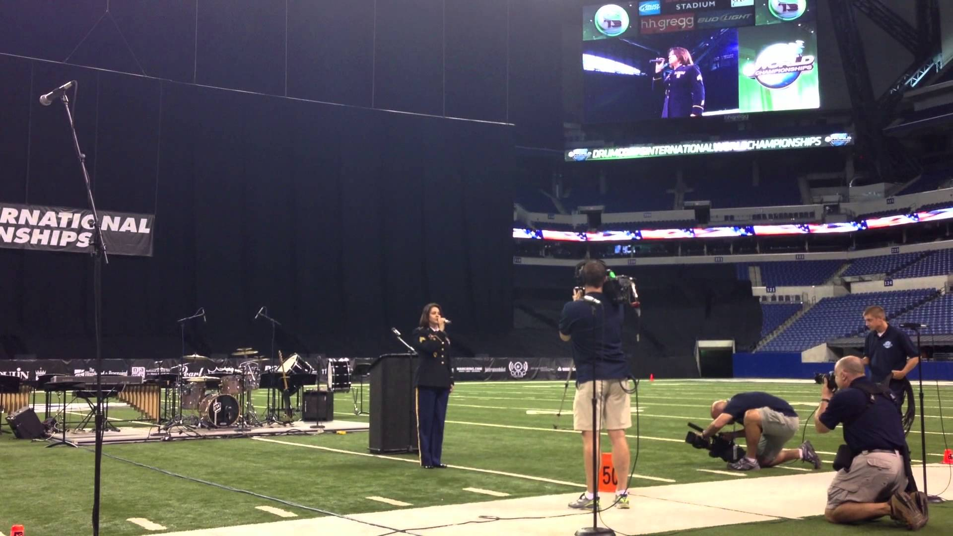 Sgt Corrin Campbell – National Anthem – 2013 DCI Finals – Aug 10, 2013