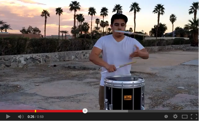 on fire cypher drumming video